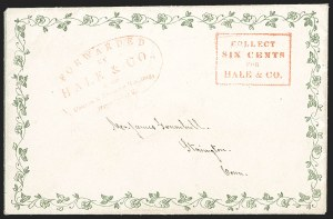 Sale Number 1230, Lot Number 759, Hale & Co: New Jersey and New YorkForwarded by Hale & Co., Courier & Enquirer Building, New York, Forwarded by Hale & Co., Courier & Enquirer Building, New York