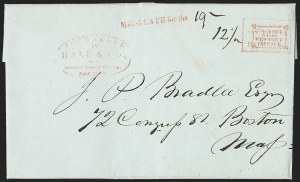 Sale Number 1230, Lot Number 761, Hale & Co: New Jersey and New YorkForwarded by Hale & Co. from Courier & Enquirer Building, New York, Forwarded by Hale & Co. from Courier & Enquirer Building, New York