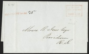 "Sale Number 1230, Lot Number 764, Hale & Co: New Jersey and New York""Mailed LATE for the"", ""Mailed LATE for the"""