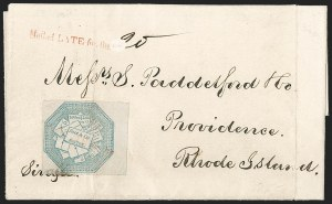 Sale Number 1230, Lot Number 766, Hale & Co: New Jersey and New YorkHale & Co., 5c Blue, Street Address Omitted (75L5), Hale & Co., 5c Blue, Street Address Omitted (75L5)