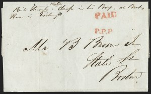 Sale Number 1230, Lot Number 769, Hale & Co: New Jersey and New YorkP.P.P. (Penny Post Paid), P.P.P. (Penny Post Paid)