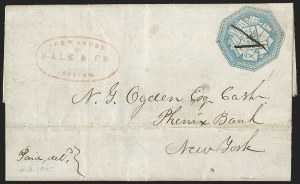 Sale Number 1230, Lot Number 770, Hale & Co: New Jersey and New YorkHale & Co., 5c Light Blue (75L1), Hale & Co., 5c Light Blue (75L1)