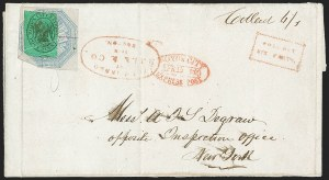 Sale Number 1230, Lot Number 774, Hale & Co: New Jersey and New YorkHale & Co., 5c Blue, Street Address Omitted (75L5), Hale & Co., 5c Blue, Street Address Omitted (75L5)