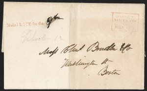 Sale Number 1230, Lot Number 783, Hale & Co: New Jersey and New YorkHale & Co., New York City, Stampless Covers, Hale & Co., New York City, Stampless Covers