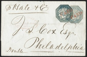 Sale Number 1230, Lot Number 784, Hale & Co: New Jersey and New YorkHale & Co., 5c Light Blue, With and Without Street Address (75L1, 75L5), Hale & Co., 5c Light Blue, With and Without Street Address (75L1, 75L5)