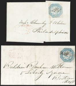 Sale Number 1230, Lot Number 790, Hale & Co: New Jersey and New YorkHale & Co., 5c Blue, Street Address Omitted (75L5), Hale & Co., 5c Blue, Street Address Omitted (75L5)