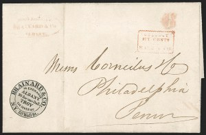 Sale Number 1230, Lot Number 793, Hale & Co: New Jersey and New YorkBrainard & Co., New York-Albany-Troy, 5c Black (24L1), Brainard & Co., New York-Albany-Troy, 5c Black (24L1)