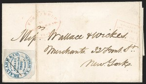 Sale Number 1230, Lot Number 794, Hale & Co: New Jersey and New YorkBrainard & Co., 5c Blue (24L2), Brainard & Co., 5c Blue (24L2)
