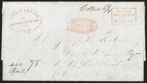 Sale Number 1230, Lot Number 795, Hale & Co: New Jersey and New YorkForwarded by Brainard & Co. from Troy, Forwarded by Brainard & Co. from Troy