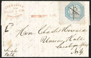 Sale Number 1230, Lot Number 802, Hale & Co: New Jersey and New YorkHale & Co., 5c Blue, Street Address Omitted (75L5), Hale & Co., 5c Blue, Street Address Omitted (75L5)
