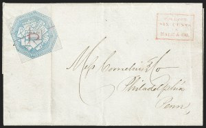Sale Number 1230, Lot Number 806, Hale & Co: New Jersey and New YorkHale & Co., 5c Blue, Street Address Omitted (75L5), Hale & Co., 5c Blue, Street Address Omitted (75L5)