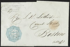 Sale Number 1230, Lot Number 809, Hale & Co: New Jersey and New YorkHale & Co., 5c Blue, Street Address Omitted (75L5), Hale & Co., 5c Blue, Street Address Omitted (75L5)