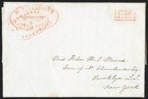 Sale Number 1230, Lot Number 813, Hale & Co: New Jersey and New YorkH. T. Crofoot's Letter Office, Newburyport, H. T. Crofoot's Letter Office, Newburyport