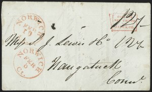 Sale Number 1230, Lot Number 847, Hale & Co: Combined Handling, Foreign UsesCollect/Six Cents/For/Hale & Co, Collect/Six Cents/For/Hale & Co