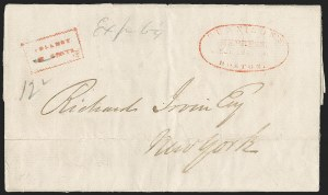 Sale Number 1230, Lot Number 864, Hale & Co: Combined Handling, Foreign UsesSt. John, New Brunswick, to New York City via Eastport Me. and Boston, St. John, New Brunswick, to New York City via Eastport Me. and Boston