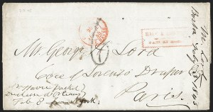 Sale Number 1230, Lot Number 871, Hale & Co: Combined Handling, Foreign UsesHale & Co.'s Mail/Paid at Boston, Hale & Co.'s Mail/Paid at Boston