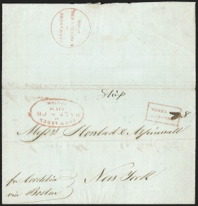 Sale Number 1230, Lot Number 879, Hale & Co: Combined Handling, Foreign UsesForwarded by Hale & Co. Boston, May 19, Forwarded by Hale & Co. Boston, May 19