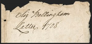 Sale Number 1230, Lot Number 969, Colonial and 18th Century(London, England to Boston, Aug, (London, England to Boston, Aug