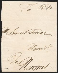 Sale Number 1230, Lot Number 972, Colonial and 18th Century(Boston to Newport R.I, (Boston to Newport R.I