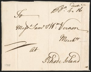 Sale Number 1230, Lot Number 973, Colonial and 18th Century(Boston to Newport R.I, (Boston to Newport R.I