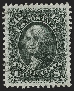 Sale Number 1231, Lot Number 103, 1867-68 Grilled Issue (Scott 79-101)12c Black, E. Grill (90), 12c Black, E. Grill (90)