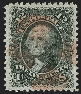 Sale Number 1231, Lot Number 104, 1867-68 Grilled Issue (Scott 79-101)12c Black, E. Grill (90), 12c Black, E. Grill (90)