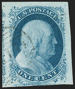 Sale Number 1231, Lot Number 12, 1851-56 Issue (Scott 5-17)1c Blue, Ty. II (7), 1c Blue, Ty. II (7)