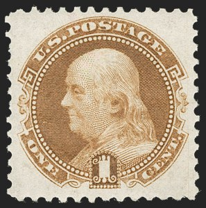 Sale Number 1231, Lot Number 129, 1875 Re-Issue of 1869 Pictorial Issue (Scott 123-133a)1c Buff, Re-Issue (123), 1c Buff, Re-Issue (123)