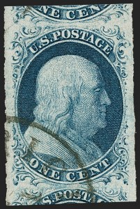 Sale Number 1231, Lot Number 13, 1851-56 Issue (Scott 5-17)1c Blue, Ty. II (7), 1c Blue, Ty. II (7)