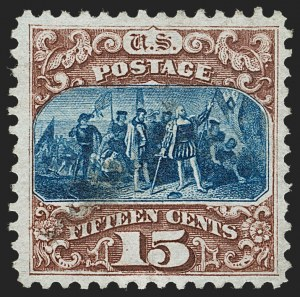 Sale Number 1231, Lot Number 132, 1875 Re-Issue of 1869 Pictorial Issue (Scott 123-133a)15c Brown & Blue, Re-Issue (129), 15c Brown & Blue, Re-Issue (129)