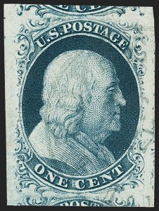 Sale Number 1231, Lot Number 14, 1851-56 Issue (Scott 5-17)1c Blue, Ty. II (7), 1c Blue, Ty. II (7)