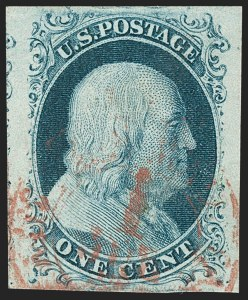 Sale Number 1231, Lot Number 15, 1851-56 Issue (Scott 5-17)1c Blue, Ty. II (7), 1c Blue, Ty. II (7)