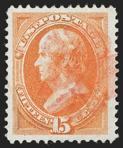 Sale Number 1231, Lot Number 150, 1870-71 National Bank Note Co.  Issues (Scott 134-155)15c Bright Orange (152), 15c Bright Orange (152)
