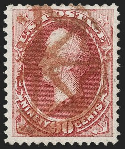 Sale Number 1231, Lot Number 154, 1870-71 National Bank Note Co.  Issues (Scott 134-155)90c Carmine (155), 90c Carmine (155)