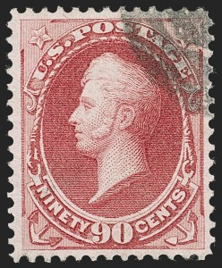 Sale Number 1231, Lot Number 155, 1870-71 National Bank Note Co.  Issues (Scott 134-155)90c Carmine (155), 90c Carmine (155)