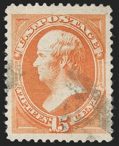 Sale Number 1231, Lot Number 166, 1879-83 American Bank Note Co. Issues (Scott 182-218)15c Red Orange (189), 15c Red Orange (189)