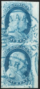 Sale Number 1231, Lot Number 17, 1851-56 Issue (Scott 5-17)1c Blue, Ty. II (7), 1c Blue, Ty. II (7)
