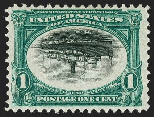 Sale Number 1231, Lot Number 213, 1901 Pan-American Issue (Scott 294-299)1c Pan-American, Center Inverted (294a), 1c Pan-American, Center Inverted (294a)