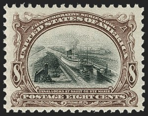 Sale Number 1231, Lot Number 217, 1901 Pan-American Issue (Scott 294-299)8c Pan-American (298), 8c Pan-American (298)