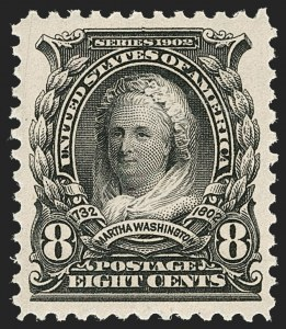 Sale Number 1231, Lot Number 224, 1902-08 Issues (Scott 300-319)8c Violet Black (306), 8c Violet Black (306)