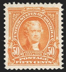 Sale Number 1231, Lot Number 227, 1902-08 Issues (Scott 300-319)50c Orange (310), 50c Orange (310)