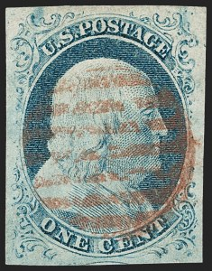 Sale Number 1231, Lot Number 23, 1851-56 Issue (Scott 5-17)1c Blue, Ty. IV (9), 1c Blue, Ty. IV (9)
