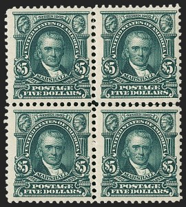 Sale Number 1231, Lot Number 232, 1902-08 Issues (Scott 300-319)$5.00 Dark Green (313), $5.00 Dark Green (313)