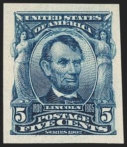 Sale Number 1231, Lot Number 233, 1902-08 Issues (Scott 300-319)5c Blue, Imperforate (315), 5c Blue, Imperforate (315)
