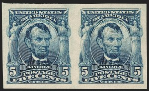 Sale Number 1231, Lot Number 234, 1902-08 Issues (Scott 300-319)5c Blue, Imperforate (315), 5c Blue, Imperforate (315)