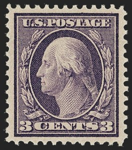 Sale Number 1231, Lot Number 270, 1909 Bluish Paper Issue (Scott 357-366)3c Deep Violet, Bluish (359), 3c Deep Violet, Bluish (359)