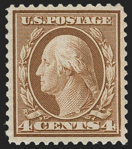 Sale Number 1231, Lot Number 271, 1909 Bluish Paper Issue (Scott 357-366)4c Orange Brown, Bluish (360), 4c Orange Brown, Bluish (360)
