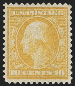 Sale Number 1231, Lot Number 275, 1909 Bluish Paper Issue (Scott 357-366)10c Yellow, Bluish (364), 10c Yellow, Bluish (364)