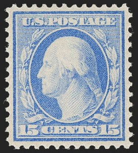 Sale Number 1231, Lot Number 277, 1909 Bluish Paper Issue (Scott 357-366)15c Pale Ultramarine, Bluish (366), 15c Pale Ultramarine, Bluish (366)