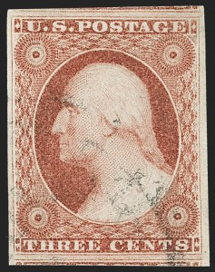 Sale Number 1231, Lot Number 28, 1851-56 Issue (Scott 5-17)3c Dull Red, Ty. I (11), 3c Dull Red, Ty. I (11)